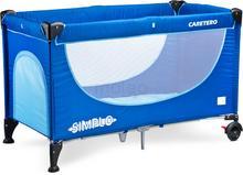 Caretero Simplo Blue New łóżeczko turystyczne