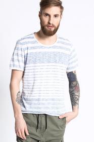 Review T-shirt Printed Stripe niebieski 10745302306
