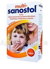 TAKEDA PHARMA MULTI-SANOSTOL Syrop wielowitaminowy preparat dla dzieci 300 g 3030101