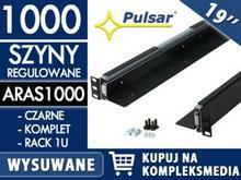 PULSAR Wysuwana szyna do szafy RACK 19 ARAS1000 czarna / W PAKIETACH KUPISZ TANIEJ! ARAS1000