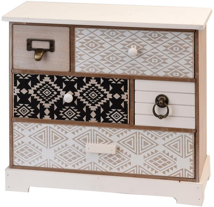Home Styling Collection Drewniana szafka z szufladkami na drobiazgi 5 przegródek NB1400230