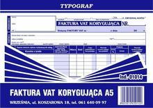 Typograf Faktura VAT korygująca A5