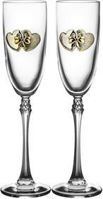 Crystal Julia Kieliszki ślubne do szampana weselne 2 sztuki 3495)
