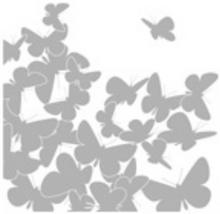 Naklejka Motyle 31 x 31 cm 2 szt.