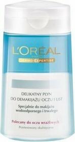 Loreal DERMO-EXPERTISE - Delikatny płyn do demakijażu wodoodpornego oczu i ust 125ml