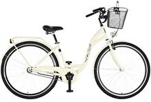Dawstar Rower Retro S1B Cappucino z koszykiem stalowym