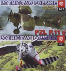 Zestaw samolotyów RWD-6 + PZL P.11c ZTSPlastyk 066