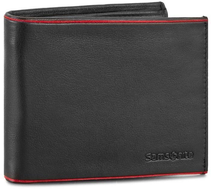 c25cc20b509d5 Samsonite Duży Portfel Męski 001-012A0-0139-1 4 Black Red – ceny ...