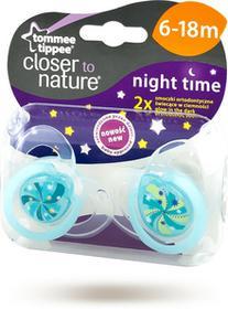 Tommee Tippee Smoczek ortodontyczny Night Time - 6-18m, świecący w nocy uchwyt (2szt.)