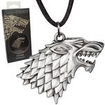 Opinie o The Noble Collection Gra o Tron - Game of Thrones - wisiorek na skórzanym rzemyku znak Stark