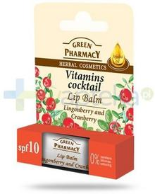Elfa PHARM Green Pharmacy balsam do ust koktajl witaminowy SPF10 brusznica żurawina 3,6 g Pharm 7068481