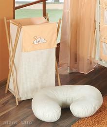 Mamo-Tato Kosz na bielizn śpiący miś brzoskwiniowy