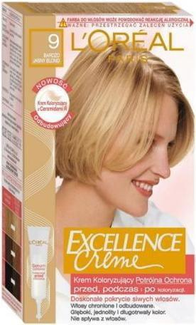 Loreal Excellence Creme 9 Bardzo Jasny Blond