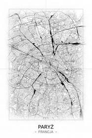 Paryż - Czarno-biała mapa