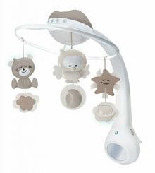 B-Kids Karuzela muzyczna Projektor i Lampka nocna beżowa 3w1 4915