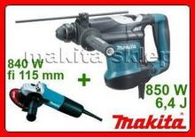 MAKITA HR3210C + 9557, młotko wiertarka SDS-Plus + szlifierka kątowa fi 115mm