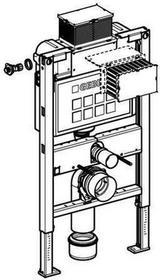 Geberit Duofix - Element montażowy Do kompaktu WC UP200, Kappa, H82 111.240.00.1