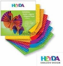 Heyda Papier do origami 10X10 KROPKI 66 szt. 519
