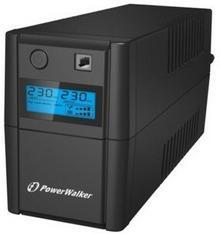 PowerWalker UPS LINE-INTERACTIVE 650VA 2X SCHUKO, RJ11 IN/OUT, USB, LCD VI650SELCD-SCHUKO