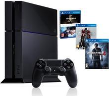 Sony PlayStation 4 1TB Czarny + Uncharted 4 + Bloodborne + Heavy Rain & Beyond Dwie Dusze + Hub HAMA 1:5
