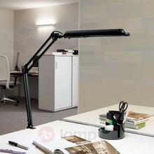 MAUL Jakob GmbH Lampa stołowa Atlantic z klamrą zaciskową czarny