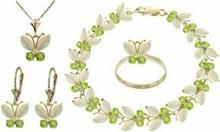 Galaxy Gold Products , Inc 2628 Komplet biżuterii z opali i oliwinów