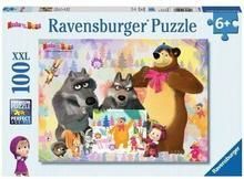 Ravensburger Masza i Niedźwiedź - puzzle XXL, 100 elementów