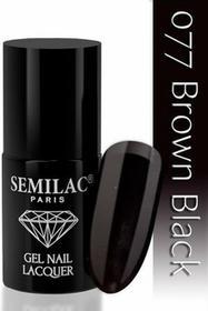 Semilac Lakier hybrydowy 077 Brown Black