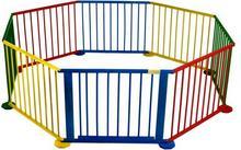 FUN BABY Kojec dla dzieci 8- elementowy z bramką, kolorowy