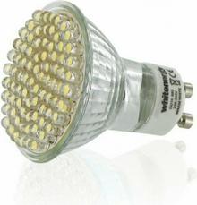 Whitenergy żarówka LED GU10 60 LED 3W 230V barwa ciepła biała 07295