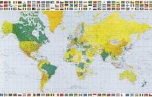 Mapa Ĺšwiata - plakat