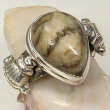Pierścionek Srebrny, 17,3mm, Jaspis, 5g