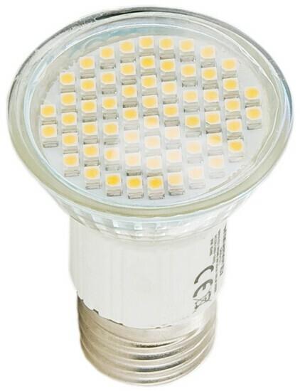 Whitenergy żarówka LED | E27 | 60 SMD 3528 | 3W | 230V | ciepła biała 9480