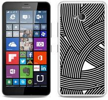 Etuo.pl Fantastic Case - Microsoft Lumia 640 - etui na telefon Fantastic Case - biało-czarna mozaika ETMS174FNTCFC027000