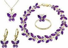 Galaxy Gold Products , Inc 2624 Komplet biżuterii z ametystów