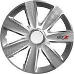 """Opinie o VERSACO Pokrywa koła GTX Carbon silver 13"""" sada 4ks 20033)"""