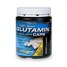Vitalmax Glutamin L-100% Base caps 200 kap.