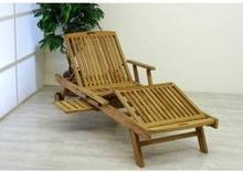 Leżak ogrodowy divero luxus teak GL05660