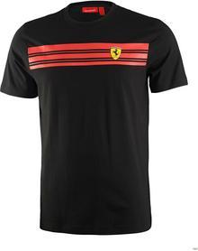 Ferrari F1 Koszulka Mens Striped Tee - Black 3