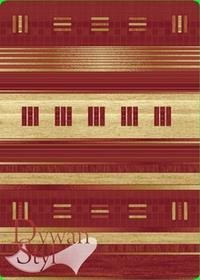 DywanStyl.pl Style Ganges czerwony 140x190 prostokąt