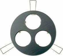 Okrągła oprawa montażowa, 3 miejsca montażowe, aluminiowa