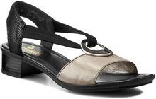 Rieker Sandały 62689-42 Grey skóra naturalna/nubuk, skóra naturalna/-nabłyszczana, materiał/-materiał