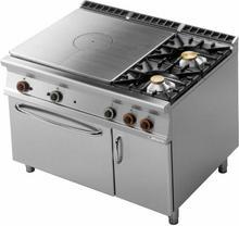 RM Gastro Kuchnia żeliwna z piekarnikiem gazowym GN 2/1 i szafką TPF2 - 912 GV