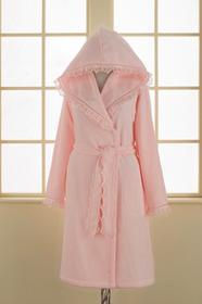 Soft Cotton LUNA damski pluszowy szlafrok z kapturem w pudełku S Różowy 4437