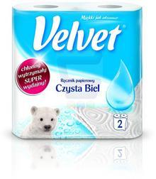 Velvet Ręcznik papierowy czysta biel 2szt.