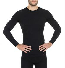 Brubeck koszulka termoaktywna męska Merino Active Wool LS12820 - czarny
