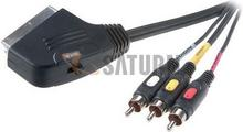 Vivanco Kabel Scart - 3RCA (in/out) 2m 9/84-N