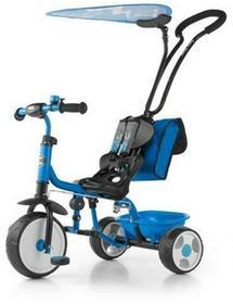 Milly Mally Rowerek trójkołowy Boby Deluxe z podnóżkiem niebieski