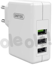 Unitek Ładowarka 3x USB 2.4A + QC2.0 FAST Y-P537A