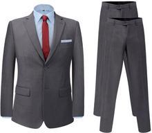 vidaXL Dwuczęściowy garnitur z dodatkową parą spodni szary rozm. 46